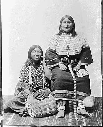 Bannock Women in Traditional Garb