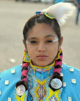 Paiute Indian Tribe Girl